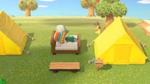 どうぶつの森テント生活