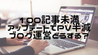 PV半減アクセス皆無ブログ運営